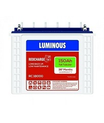 Luminous Red Charge 18000 Tall Tubular Inverter Battery