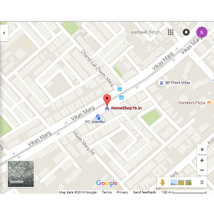 Google Map HomeShop16.in