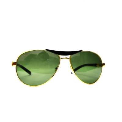 UV400 protection Avaitor Green Glass Villan Look Sunglasses