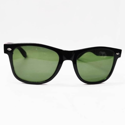 UV400 Square Mirrored Green Glass Karamchand Sunglasses