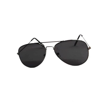 UV300 Black New Flat Frame Aviator Unisex Sunglasses