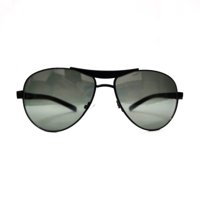 UV400 Protection Aviator Black Metal Frame Villan Look Sunglasses