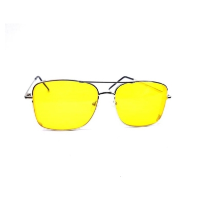 UV400 Rectungular Yellow Lens Unisex Sunglasses