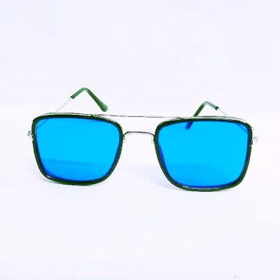 UV400 Square Tony Stark Blue Style Sunglasses