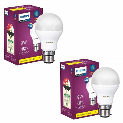 Philips Base 9 Watt LED Bulb Pack of 2 Warm White