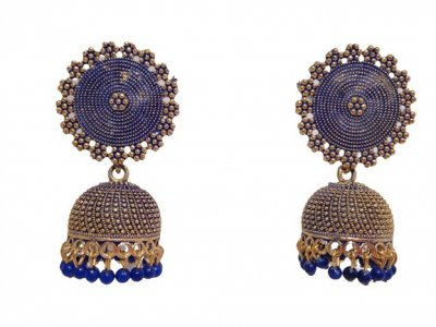BB Trendz Golden Plated Ethnic Sun Shape Lightweight Jhumki Earrings