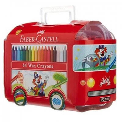 Faber Castell Crayon Bus 64 Assorted Shades