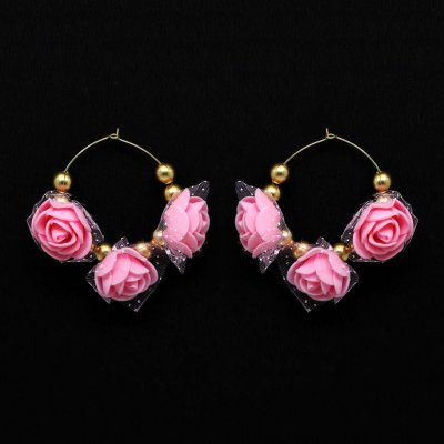 BB Trendz Pink Color Thread Earrings