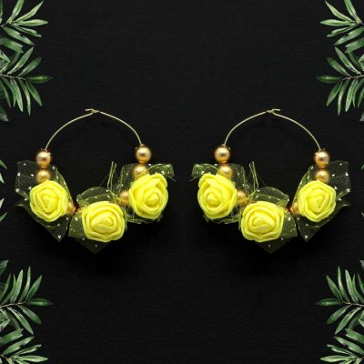 BB Trendz Yellow Color Thread Earrings