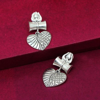 BB Trendz Silver Color Oxidised Earrings