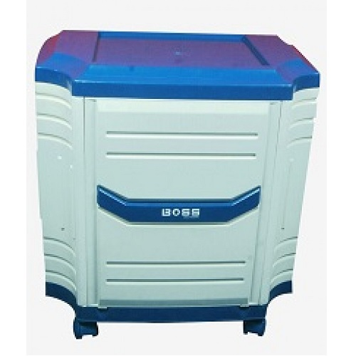 Boss Single Tall Tubular Inverter Trolley White & Blue